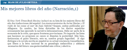 Julio Ortega Mejores Libros 2013